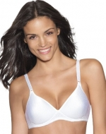 Hanes Lightly Lined Full Padded Soft Cup Bra, White-38B, wire-free