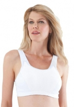Glamorise Women's Plus Size Sports Bra For Wirefree Motion Control By Glamorise White,44 C