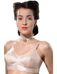 What Katie Did 1940s Vintage Peach Bullet Bra 32D