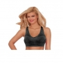 Breezies Satin Support Bra w/ Patented Ultimair + Removable Underwire Bra (36c, Black)