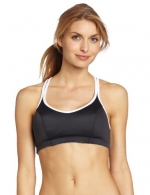 Champion Women's Shaped T-Back Sports Bra, Asphalt/White, 32B