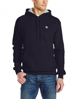 Champion Men's Pullover Eco Fleece Hoodie, Navy, Small
