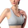 Dealzip Inc® Gray Women Sport Yoga Bra Running Fitness Pad Racer Tank Size M
