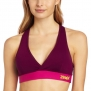 Zumba Fitness LLC Women's Allure V-Bra Top, Plum, X-Small