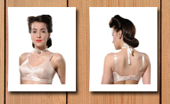 What Katie Did 1940s vintage peach bullet bra