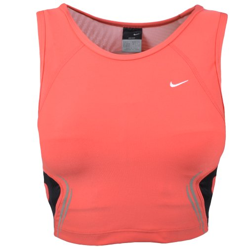 nike womens dri fit fitness crop top pink nike nike. Black Bedroom Furniture Sets. Home Design Ideas